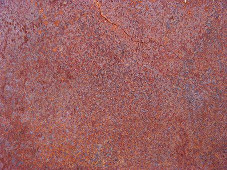 Texture, Background, Iron, Rusty, Red