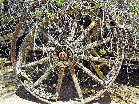 Wagon, Wheel, Old, Transportation, Wooden, Antique