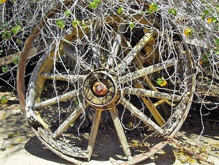 Wagon, Wheel, Old, Transportation, Wooden, Antique