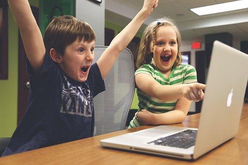 Children, Win, Success, Video Game, Play, Happy