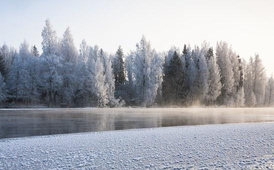 Winter, River, Frost, Ice, Flow, Winter Landscape