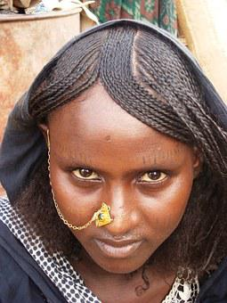 African Woman, Ethiopian Girl, Afar Tribe