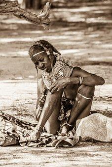 Africa, Mumuila, African, Woman, Poverty, Black, Female