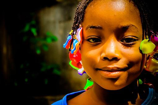 African Child, Innocent, Beautiful Face, African Beads