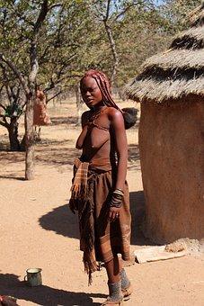 Namibia, Woman, Himba, Nature, African, Africa, Black