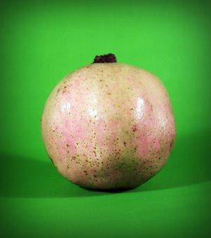 Pear, Asian, Nashi, Closeup, Isolated, Ripe, Natural