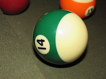 Ball, Pool, Billiards, Game, Table, Break, Fourteen, 14