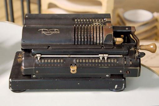 Calculating Machine, Mechanically, Old, Historically