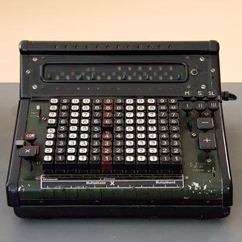 Calculating Machine, Mechanically, Old, Mechanics