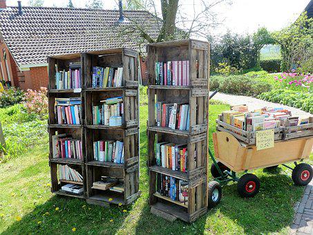 Books, Library, Closet, Trade, Read, Countryside