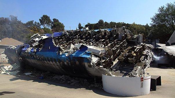 Universal Studio, Hollywood, California, Plane, Crash