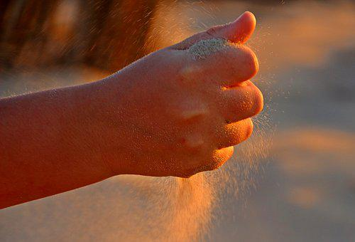 Faust, Hand, Finger, Closed, Sand, Rippling Sand