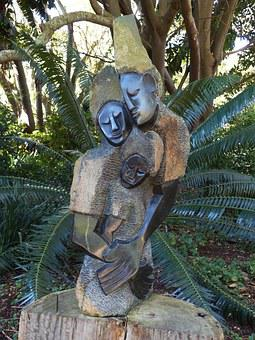 South Africa, Cape Town, Park, Statue, Fig, Stone