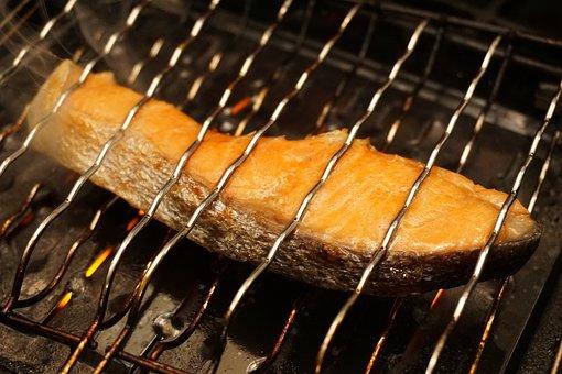 Salmon, Grilled Salmon, Grilled Fish, Fish, Fillet