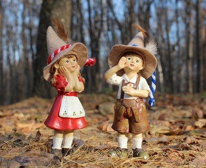 Kids, Girl, Boy, Forest, Elf, Cap, Get Lost