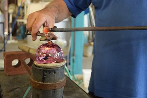 Glassblowing, Glass, Glassmaker, Glass Blower