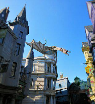 Harry Potter, Gringotts, Dragon, Universal Studios