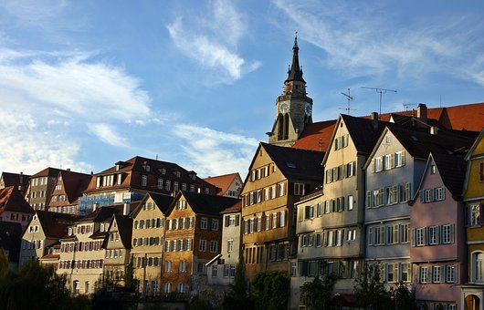 Tübingen, Neckar Front, Houses, Historic Center