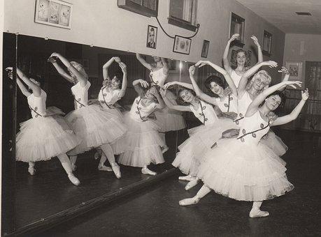 Vintage, Retro, Ballet, Dance, Studio, Mirror, History
