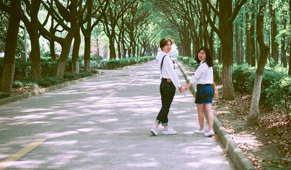 University Campus, The Self-timer, School Girls, Jeans