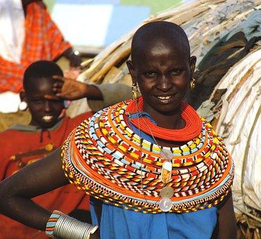 African Woman, Samburu Tribe, Kenya, African Female
