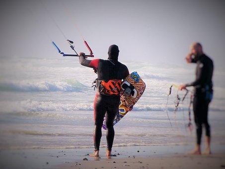 Kiteboarding, Water Sports, Sport, Wind, Kite Surfing
