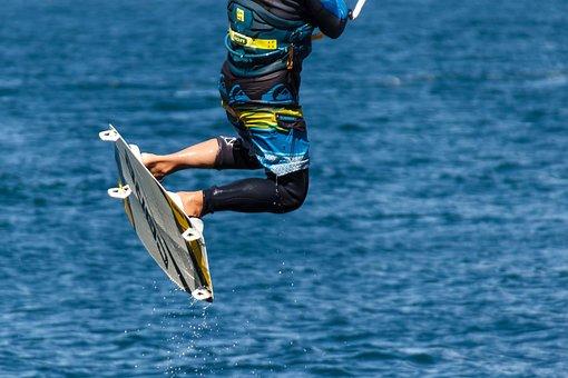 Kite Surfing, Kitesurfing, Water Sports, Sport