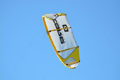 Kite Surf, Kiting, Water Sports, Kite, Fly, Sky, Sport