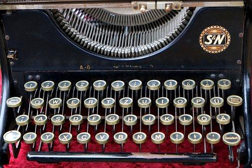 Typewriter, Old, Leave, Antique, Machine, Keyboard