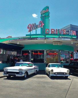 Drive In, Restaurant, Oldtimer, Old Time, Nostalgic