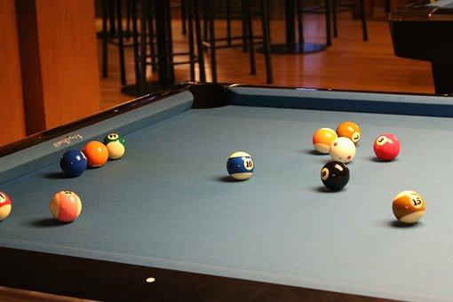 Pool, Table, Pocket, 8, Rack, Cue, Snooker, Billiard