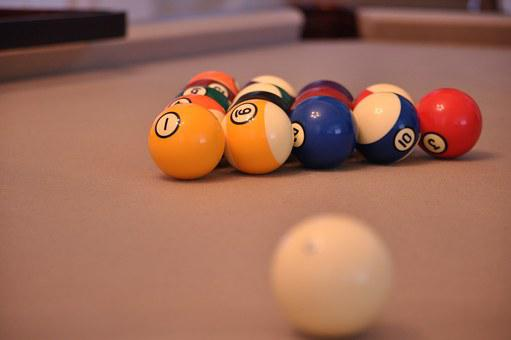 Pool Game, Billiard, Ball, Playing, Pool Table