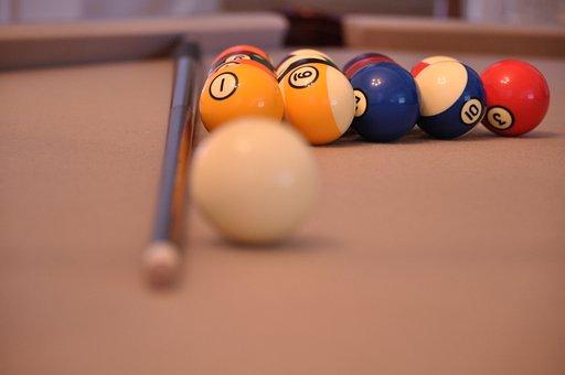 Pool Table, Pool, Ball, Billiard, Play, Stick