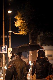 Rain, Umbrella, Girls, Weather, Wet, Water, Street