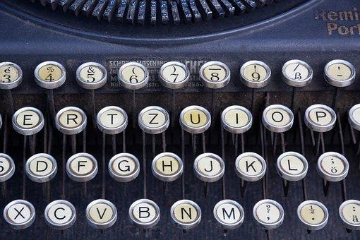 Typewriter, Keyboard, Remington Portable, Remington