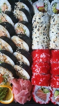 Sushi, Food, Asian, Japanese, Roll, Rice, Fish, Seafood