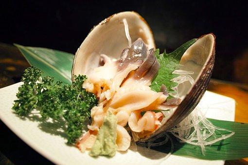 Restaurant, Japanese Food, Japan Food, Sashimi, Shell