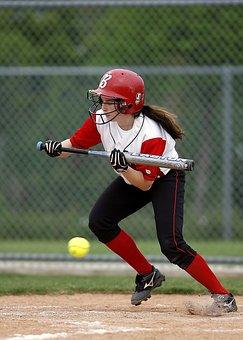 Softball, Batter, Hitter, Female, Player, Bat, Game
