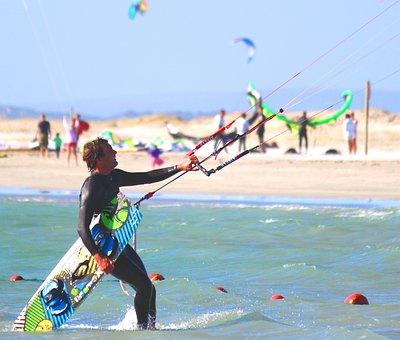 Kiting, Water Sports, Man, Wind, Sport, Kite Surf, Sky