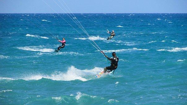 Kiteboarding, Kite, Surf, Sport, Sea, Surfer, Active