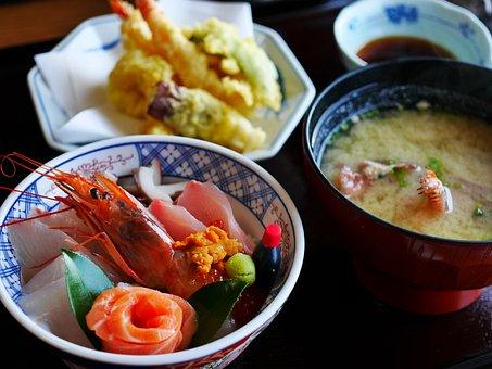 Japanese Food, Japan Food, Sashimi, Seafood, Tempura