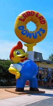The Simpsons, Donut, Universal Studios, Theme Park, Usa
