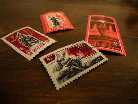 Postage Stamp, Character, The Soviet Union, Old, Retro