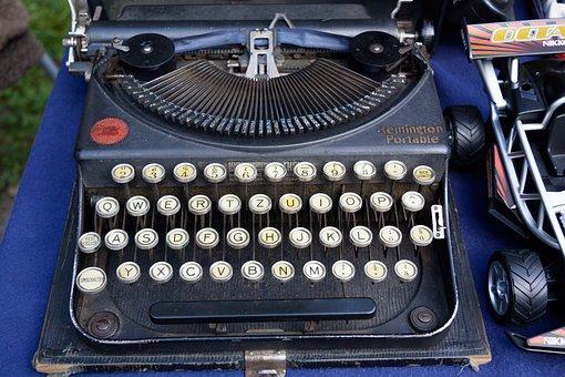 Typewriter, Remington, Travel Typewriter, Alphabet