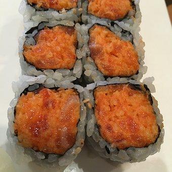Sushi, Fish, Tuna, Raw, Food, Japanese, Rice, Roll