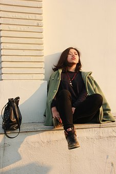 University, Photo, Young, Woman, People, Urban, Street