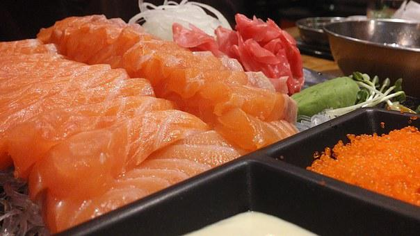 Salmon, Unlimited Refills, Fresh, Fish, Red Fish