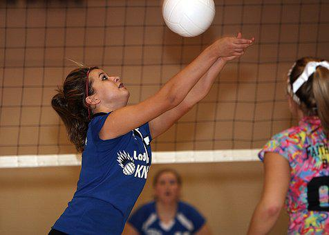 Volleyball, Female, Volley, Net, Game, Competition