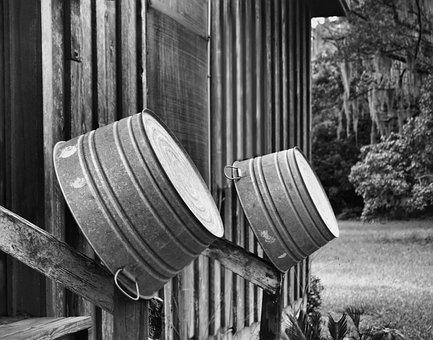 Wash Tub, Old, House, Farm, Homestead, Vintage