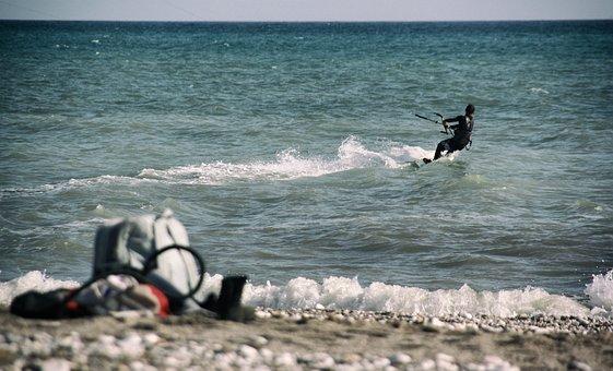 Kite, Surfing, Water, Sport, Bag, Beach, Summer, Hobby
